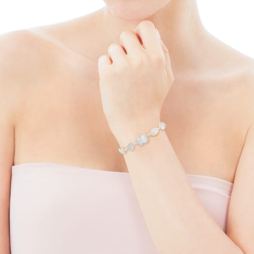 Silver New Color Bracelet with Mother-of-Pearl