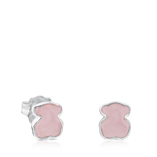Aretes New Color de Plata con Cuarcita