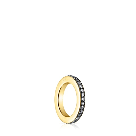 Nocturne Ring in Silver Vermeil with Diamonds