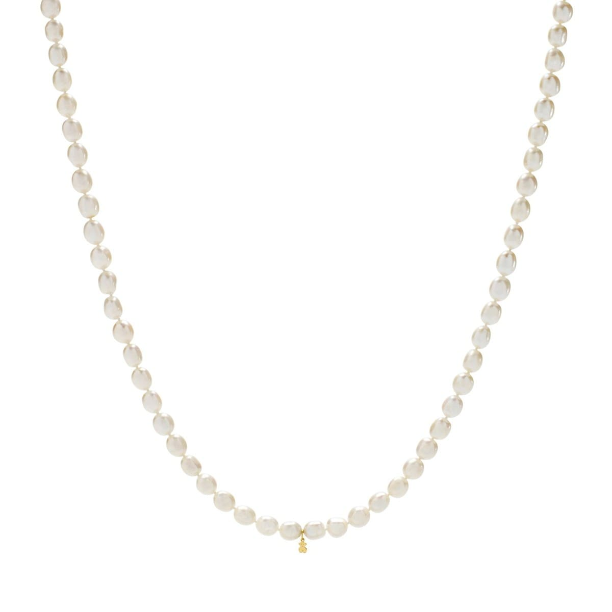 Gold TOUS Pearl Necklace with Pearl