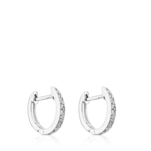 White Gold Les Classiques Earrings with Diamond