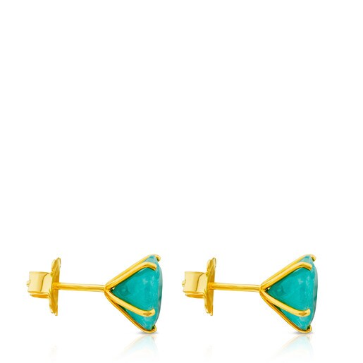 Ivette Earrings in Gold with Amazonite