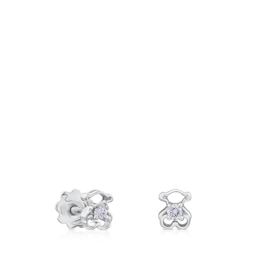 White Gold Silueta Earrings with Diamonds