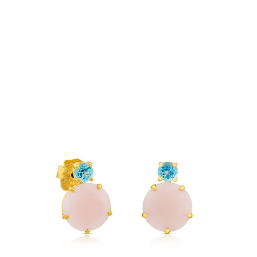 Ivette Earrings in Gold with Opal and Topaz