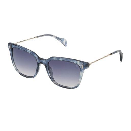 Blue Acetate Braided Squared Sunglasses