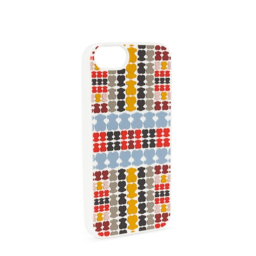 Jeans-red Tartan Rubber iPhone 6S/7/8 case
