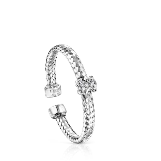 Light Ring in White Gold with Diamonds