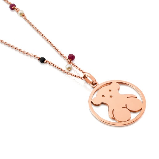 Rose Vermeil Silver Camille Necklace with Onyx