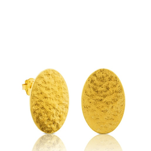 Vermeil Silver Grit Earrings