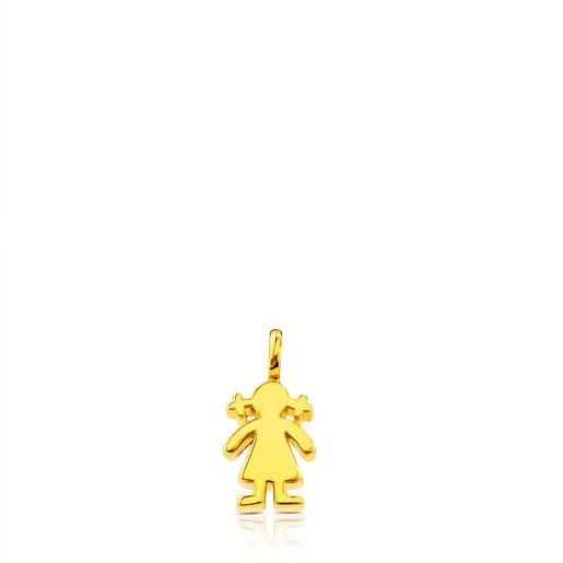 Gold Sweet Dolls Pendant Girl motif