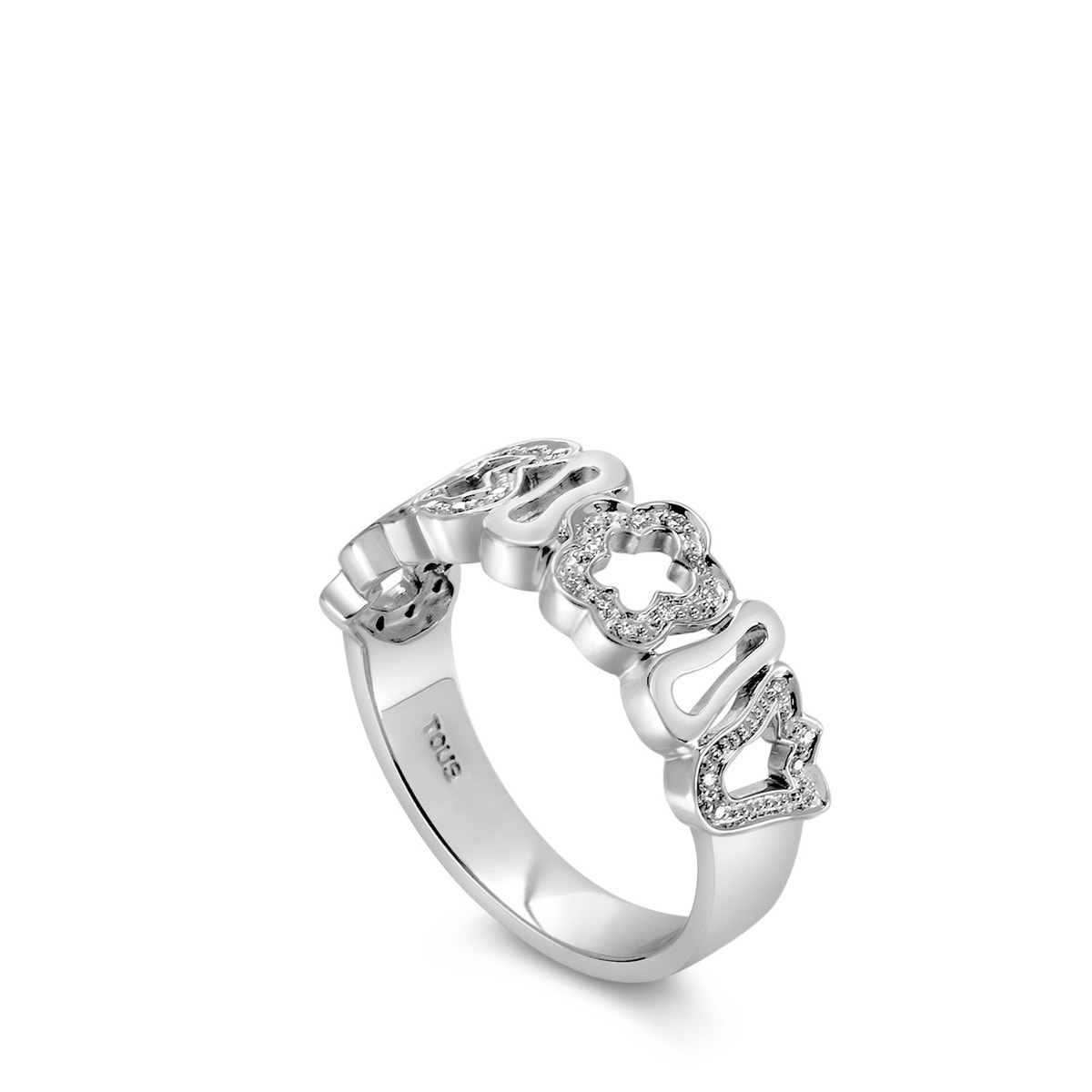 White Gold Ares Ring with Diamond