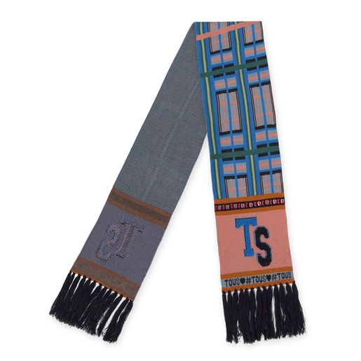 Multicolored Leissa Intarsia scarf