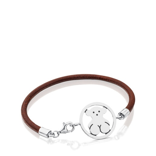 Camille Bracelet in Silver and Leather