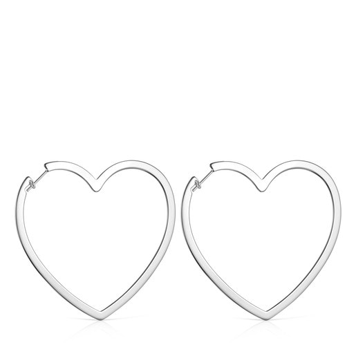 Silver Silueta heart Earrings