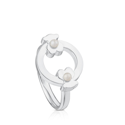 Silver Super Power Ring with Pearls