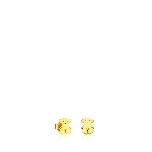 Gold TOUS Bear Earrings Bear motif