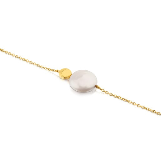 Alecia Bracelet in Gold with Pearl.