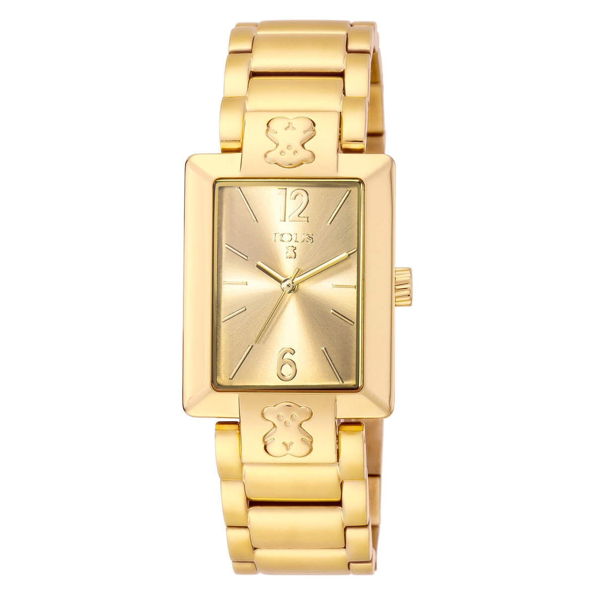 Gold IP Steel Plate SQ Watch
