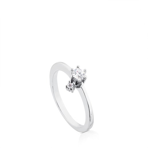 White Gold Les Classiques Ring with Diamond