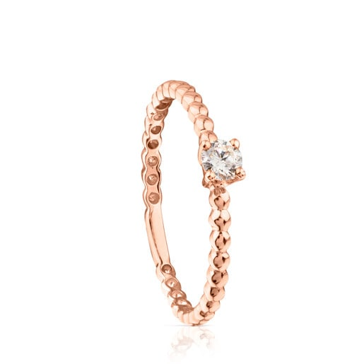 Rose gold TOUS Brillants Ring with Diamond