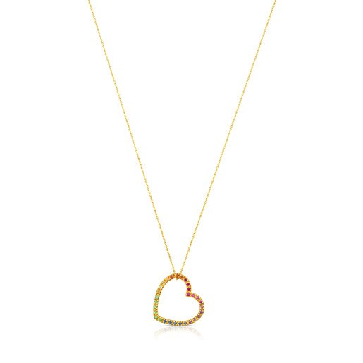 Gold Icon Necklace with Gemstones