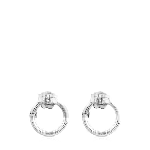 Small Silver Hold Earrings