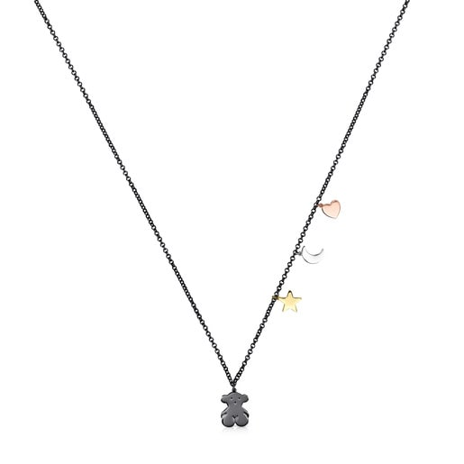 Dark Silver, Silver Vermeil, Rose Silver Vermeil and Silver Sweet Dolls Necklace