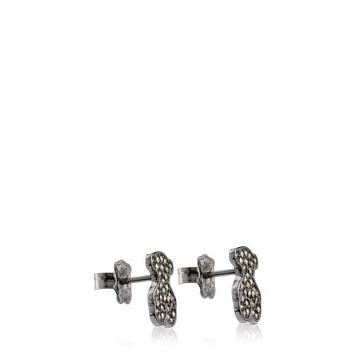 Silver Grace Earrings with Marcasite