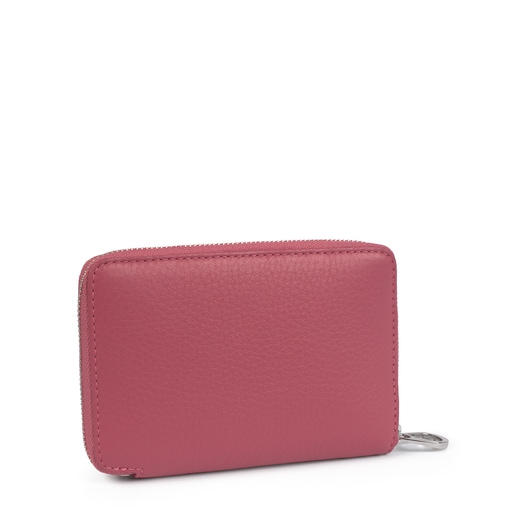 Small leather pink Leissa wallet