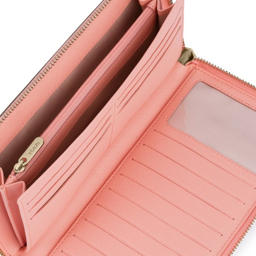 Large silver-pink colored Carlata Wallet