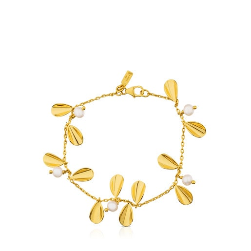 Vermeil Silver Happy Moments Bracelet with Pearl