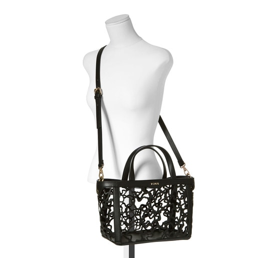 Small black colored Kaos Shock Tote bag