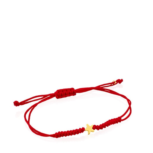 Red Cord and Gold Sweet Dolls XXS star Bracelet