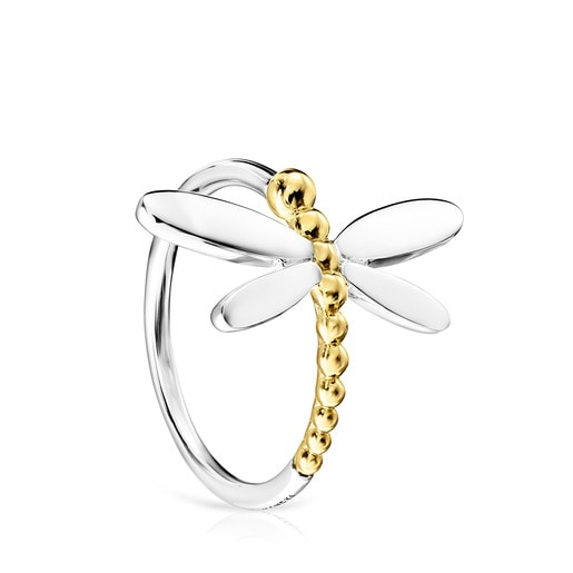 Silver and Gold Vermeil Real Mix Bera Ring