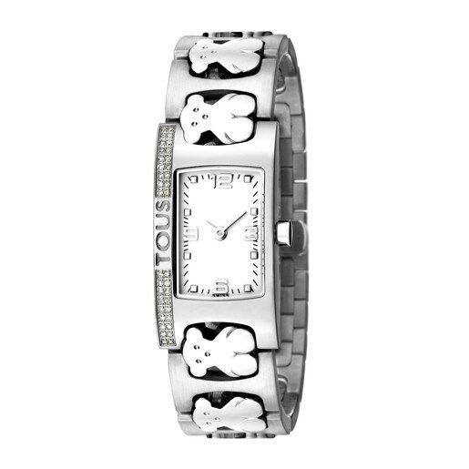 Steel Praga Watch with Diamonds