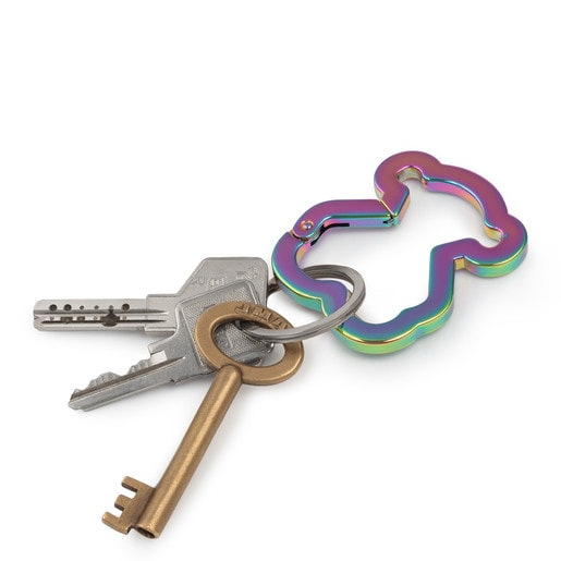 Iridescent Oso Clip key ring