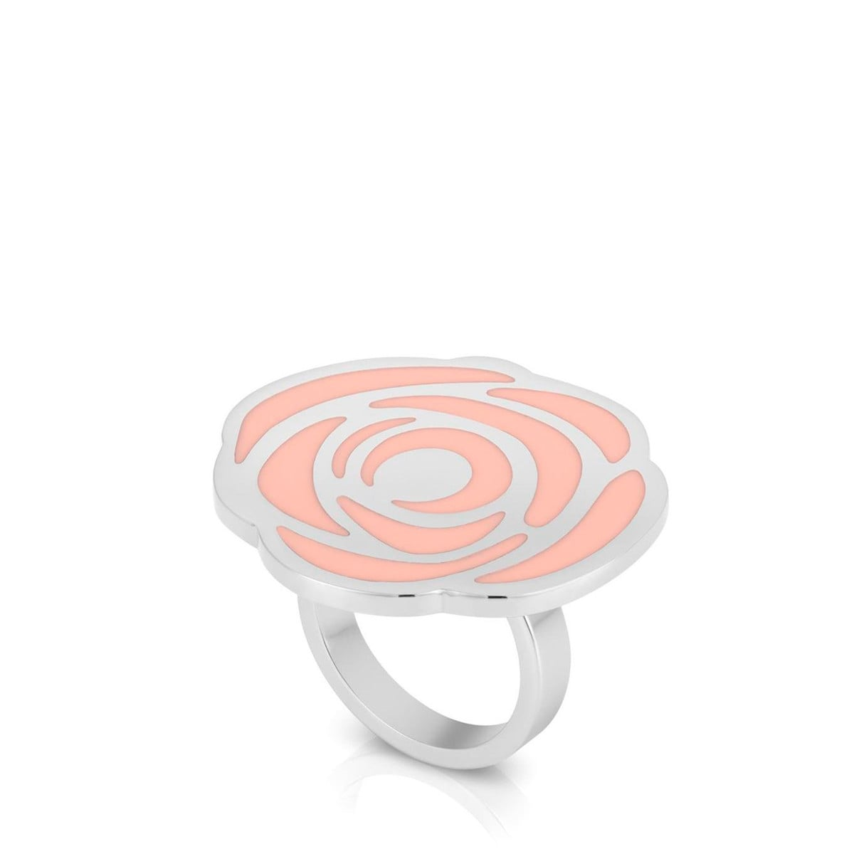Steel Rosa d'Abril Ring with Enamel