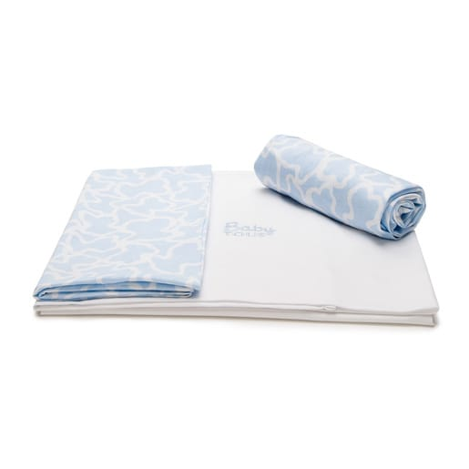 Kaos set of sheets in sky blue