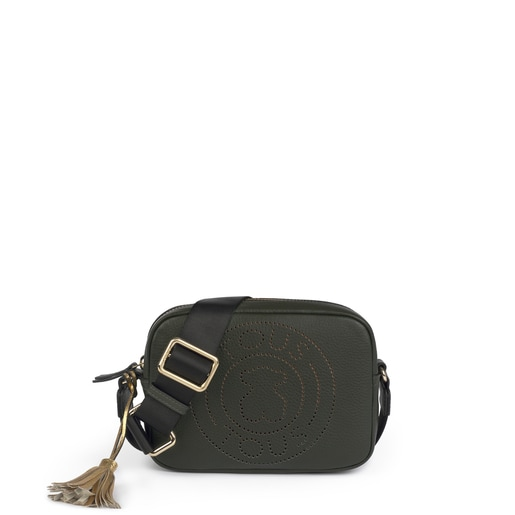 Small leather green Leissa crossbody bag