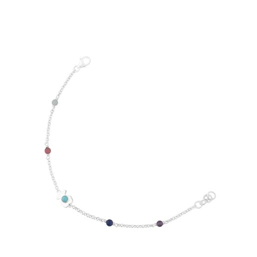 Silver Super Power Bracelet with Gemstones
