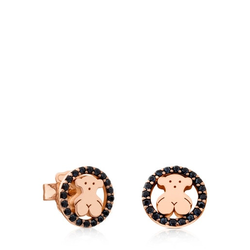 Rose Vermeil Silver Camille Earrings with Spinels