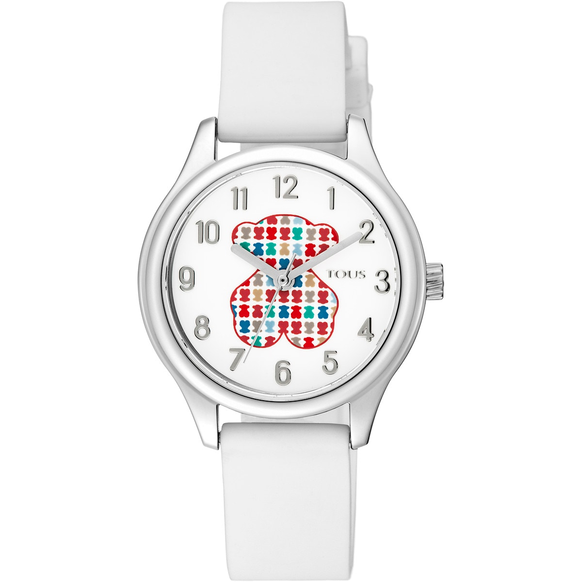 Steel Tartan Kids Watch with White Silicone Strap