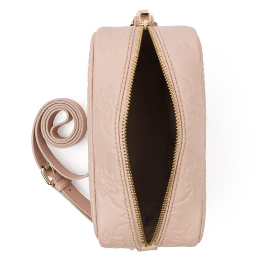 Medium pink Leather Mossaic Crossbody Bag