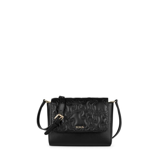 Medium black Kaos Capitone Crossbody Bag