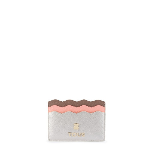 Silver-pink colored Carlata Cardholder