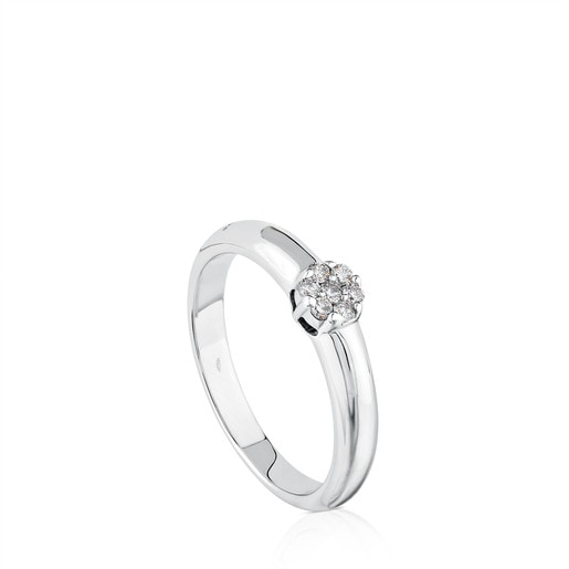 White Gold TOUS Diamonds Ring with Diamond