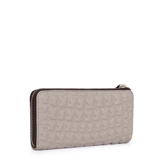 Medium taupe colored Leather Sherton Wallet