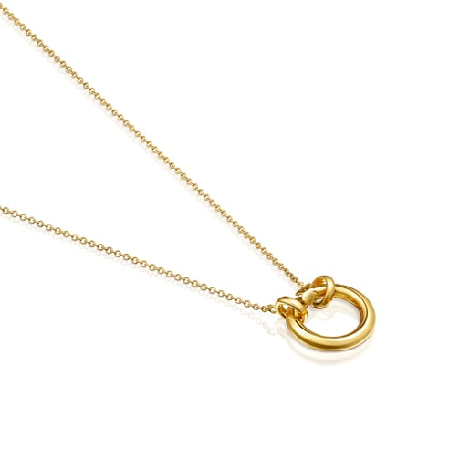 Hold small Necklace in Silver Vermeil