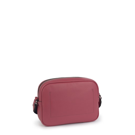 Small leather pink Leissa crossbody bag