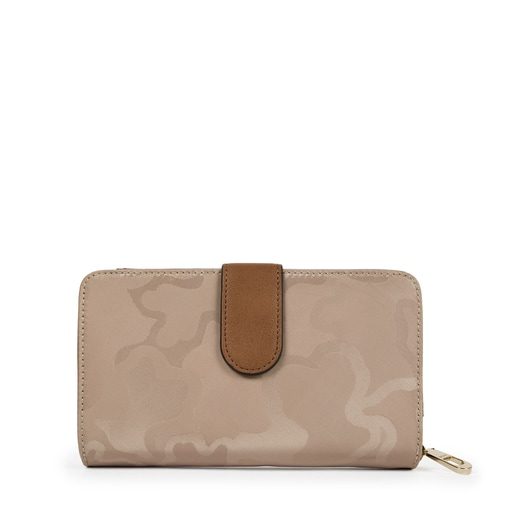 Medium stone-colored Canvas Valsaria Wallet